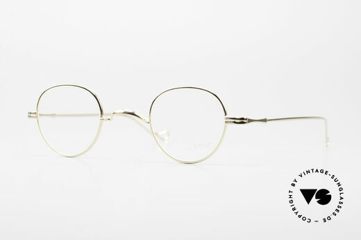 Lunor II 15 Alte Panto Brille Gold Plated Details