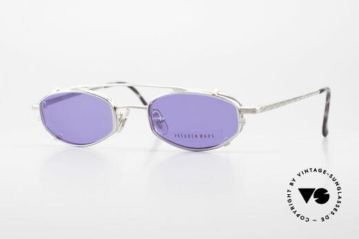 Freudenhaus Ita Titanbrille mit Sonnen Clip Details