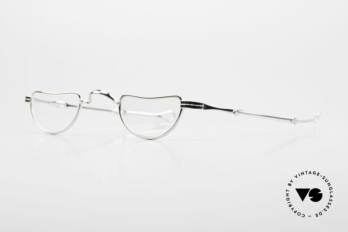 Lunor I 07 Telescopic Teleskop Brille Schiebebügel, Brillendesign in Anlehnung an frühere Jahrhunderte, Passend für Herren und Damen