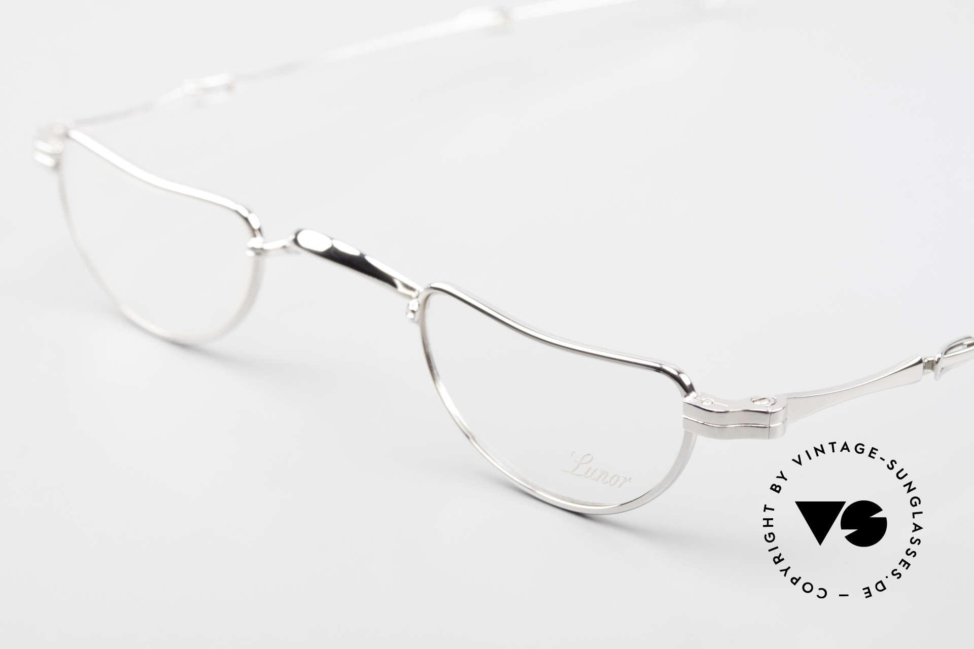 Lunor I 07 Telescopic Teleskop Brille Schiebebügel, bekannt für den W-Steg und die schlichten Formen, Passend für Herren und Damen
