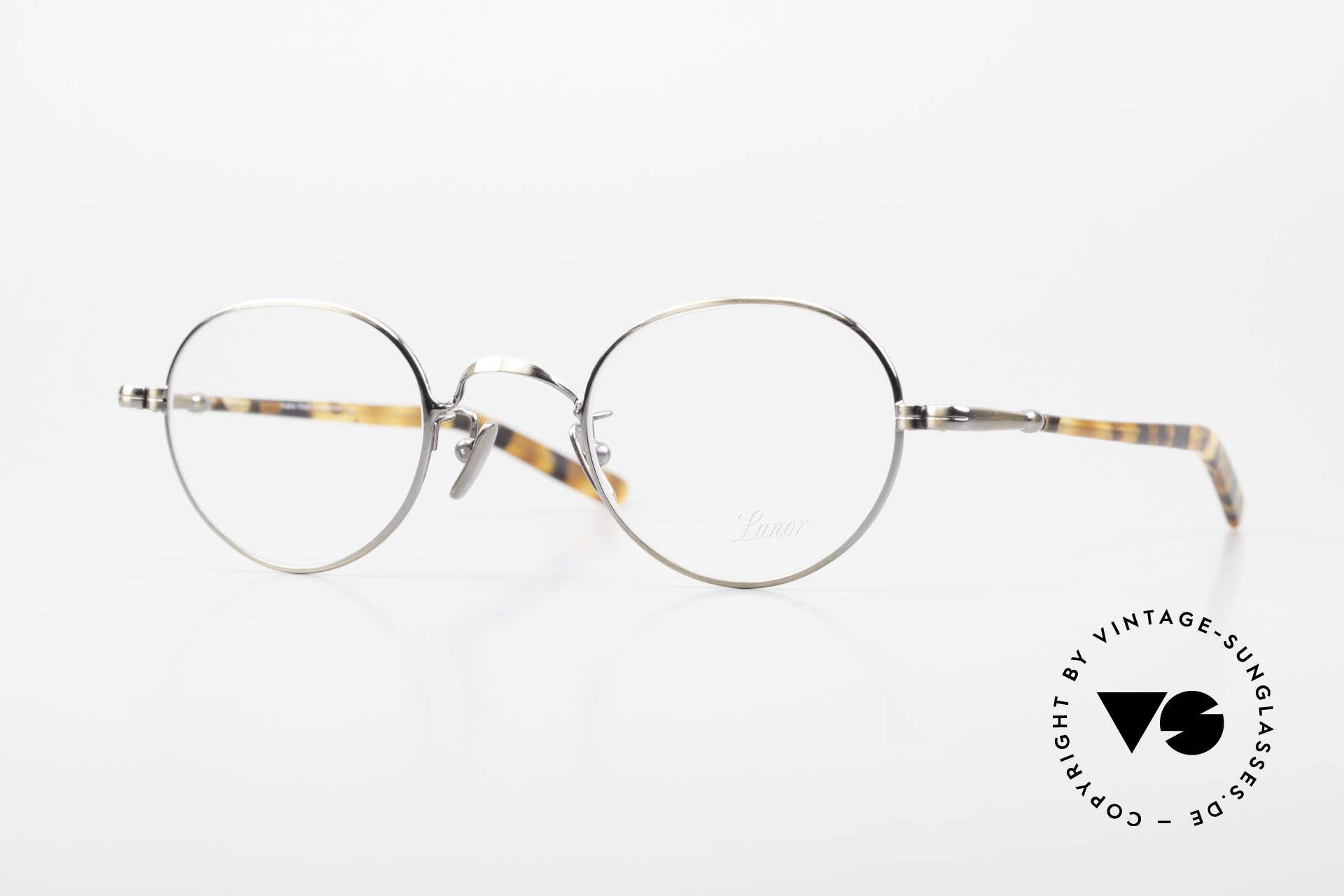 Lunor VA 108 Panto Lunor Brille Original, alte LUNOR Brille aus der 2012er Brillenkollektion, Passend für Herren und Damen