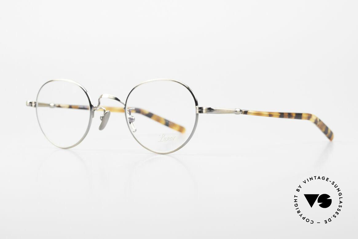 Lunor VA 108 Panto Lunor Brille Original, ohne große Logos; stattdessen mit zeitloser Eleganz, Passend für Herren und Damen