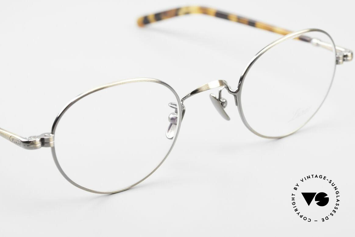 Lunor VA 108 Panto Lunor Brille Original, Panto-Stil Fassung mit Nasenpads aus reinem Titan, Passend für Herren und Damen