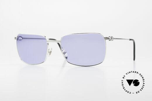 Cartier Trinidad Luxus Platin Sonnenbrille Details