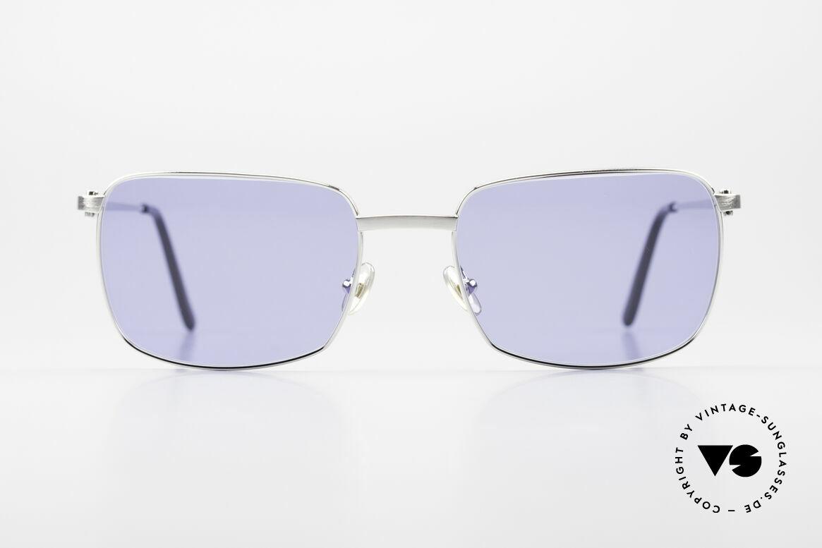 Cartier Trinidad Luxus Platin Sonnenbrille, eckige CARTIER Sonnenbrille in Größe 56/19, 140, Passend für Herren