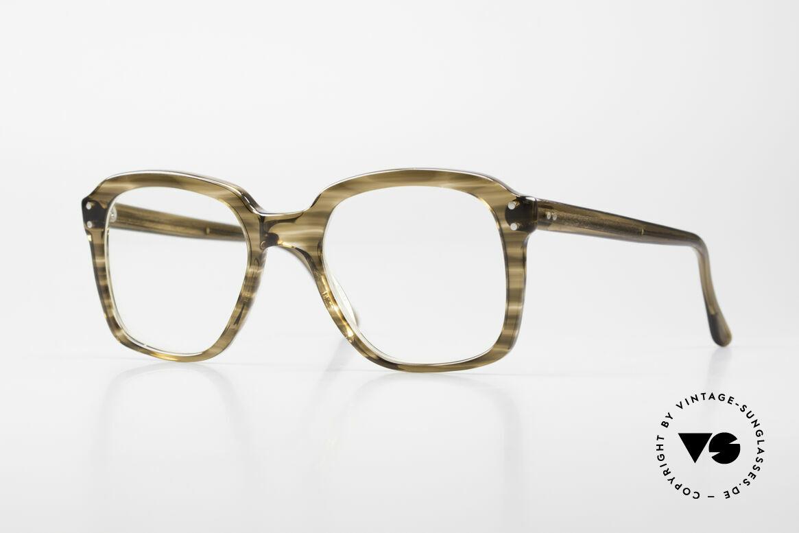 Metzler 449 Alte 70er Original Nerdbrille, alte orig. Metzler Brillenfassung aus den 70ern/80ern, Passend für Herren