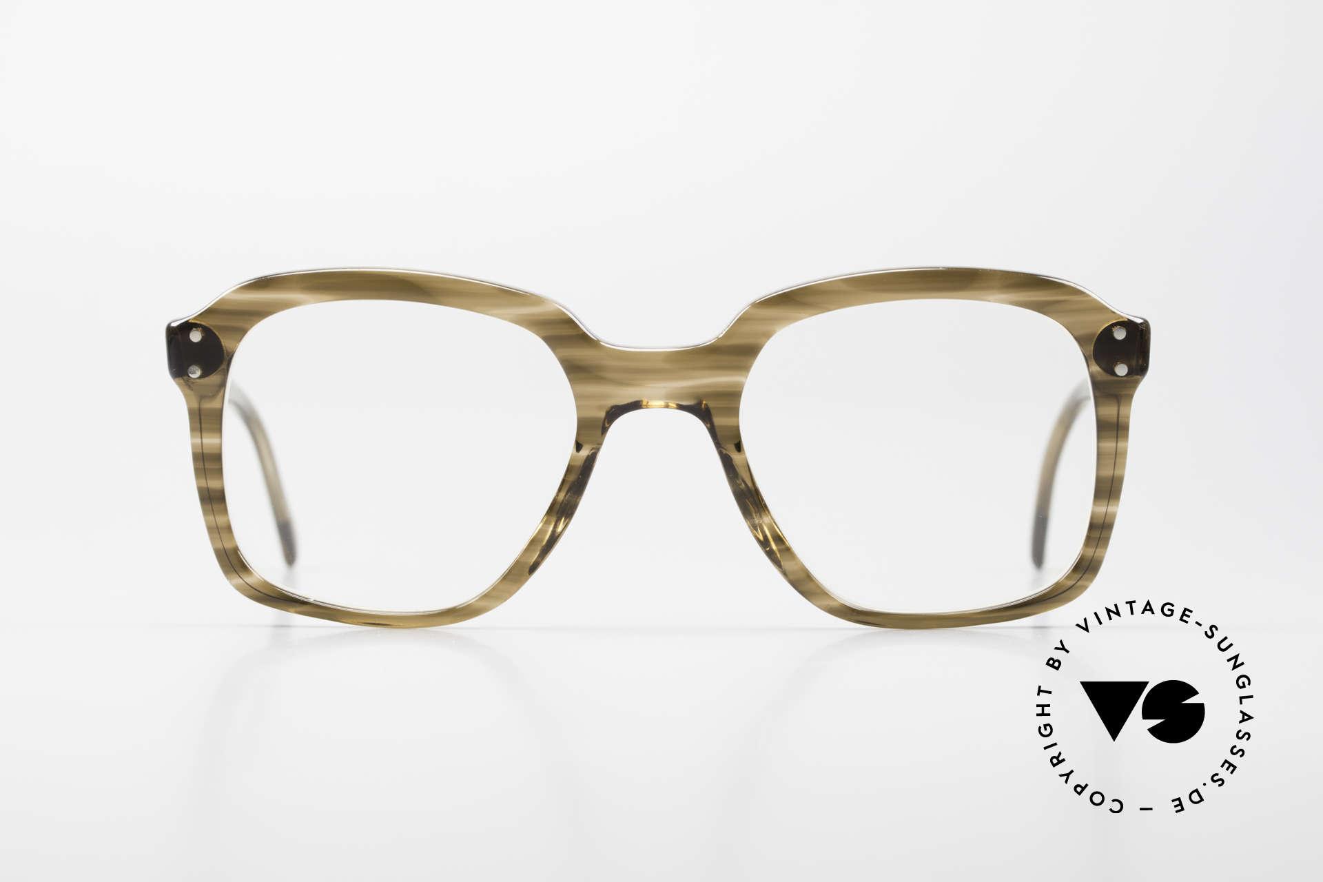Metzler 449 Alte 70er Original Nerdbrille, damals ein Klassiker; heute als Nerdbrille bezeichnet, Passend für Herren