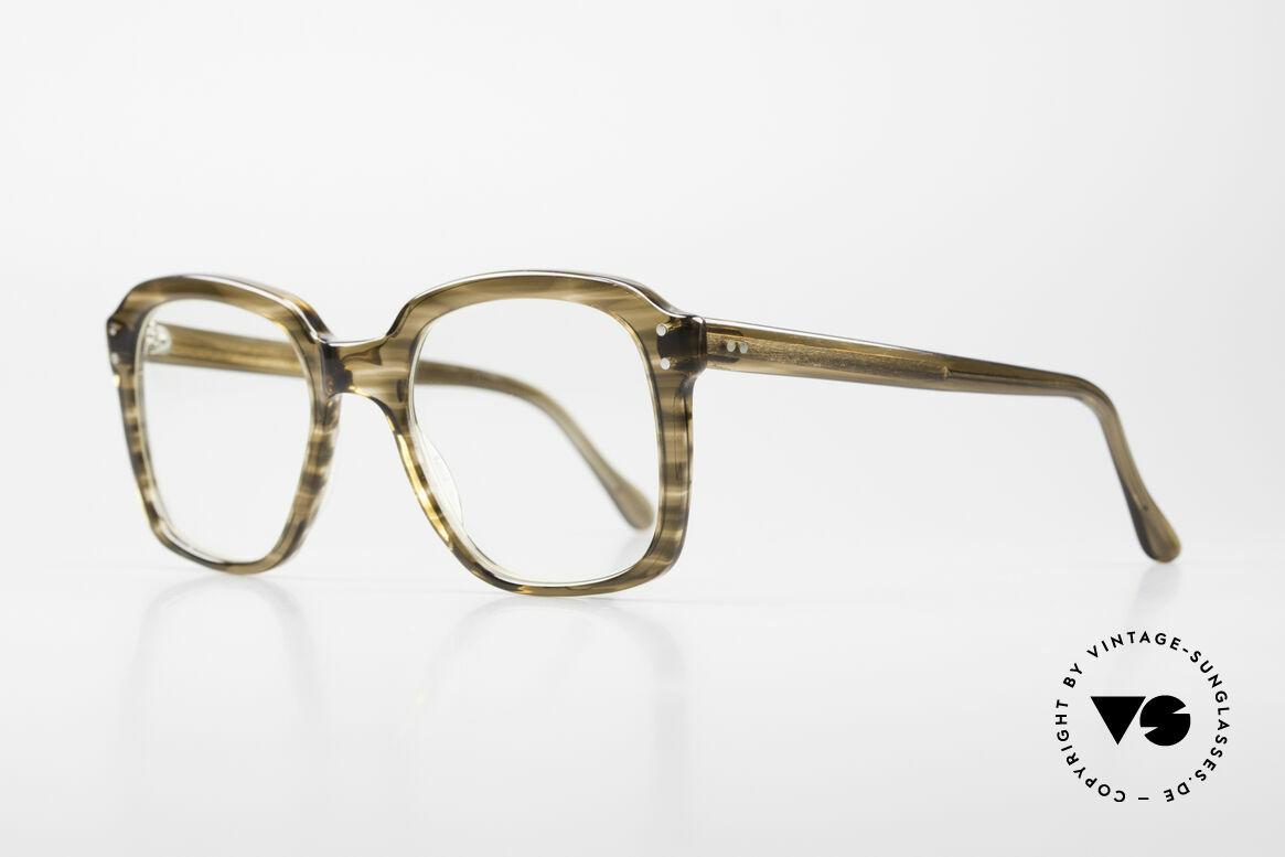 Metzler 449 Alte 70er Original Nerdbrille, enorm stabiler, massiver Rahmen; Medium-Gr. 135mm, Passend für Herren