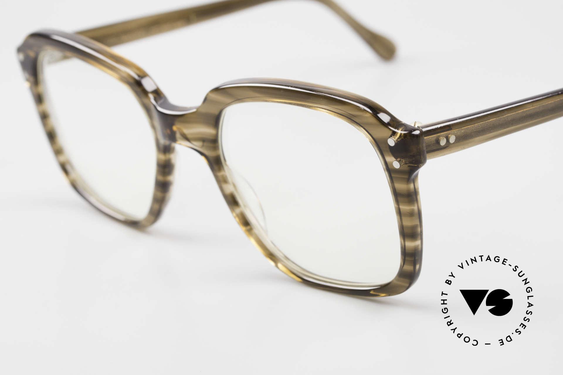Metzler 449 Alte 70er Original Nerdbrille, ungetragen (wie alle unsere 80er Metzler Nerd Brillen), Passend für Herren