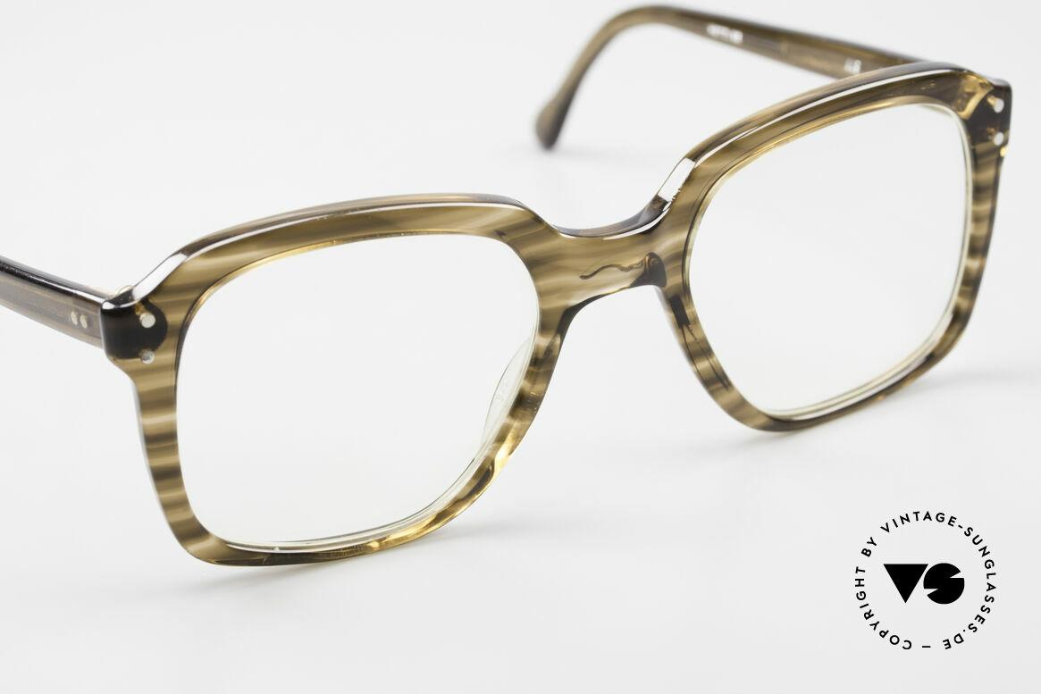 Metzler 449 Alte 70er Original Nerdbrille, Fassung ist natürlich für Gläser jeglicher Art gemacht, Passend für Herren