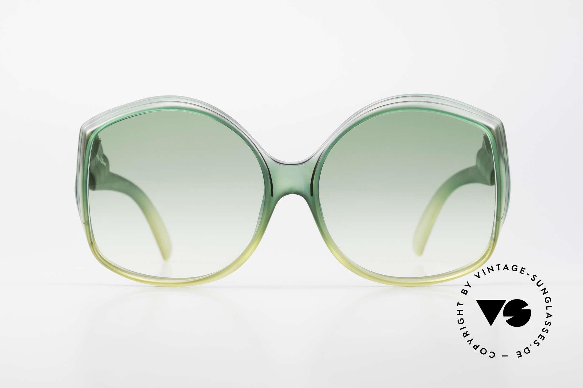 Christian Dior 2041 XXL 70er Damen Sonnenbrille, eines der ersten Brillen-Modelle von Dior überhaupt, Passend für Damen