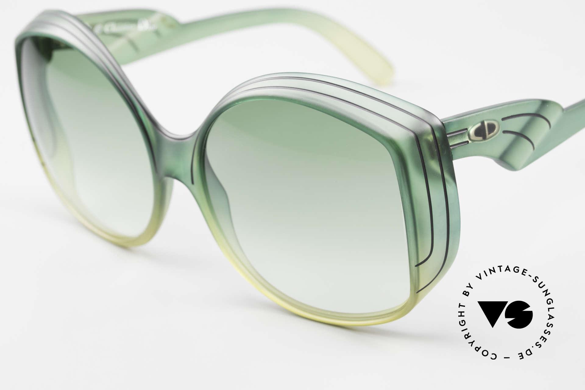 Christian Dior 2041 XXL 70er Damen Sonnenbrille, aus unglaublichem OPTYL-Material mit 'Mystik-Effekt', Passend für Damen