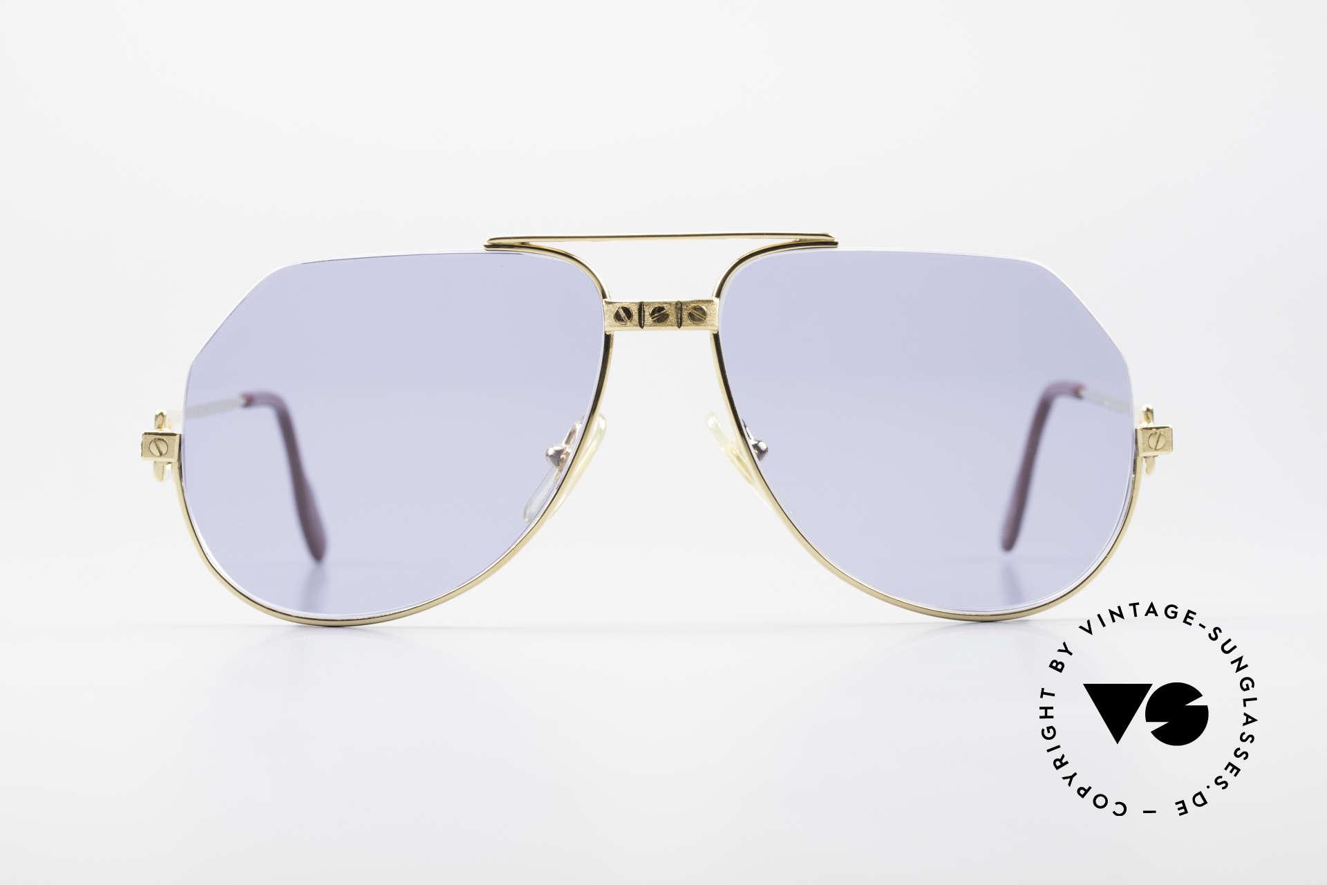Cartier Vendome Santos - S Einzelstück Nylor Und Gold, kostbares, von unserem Juwelier gefertigtes, Einzelstück, Passend für Herren