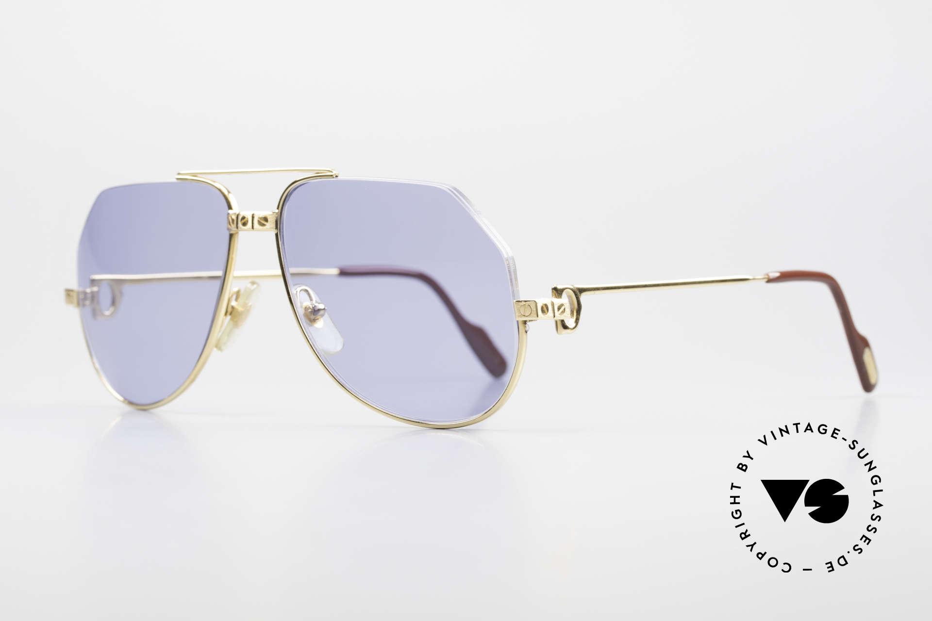 Cartier Vendome Santos - S Einzelstück Nylor Und Gold, Oberrand wurde entfernt und durch Nylor-Faden ersetzt, Passend für Herren