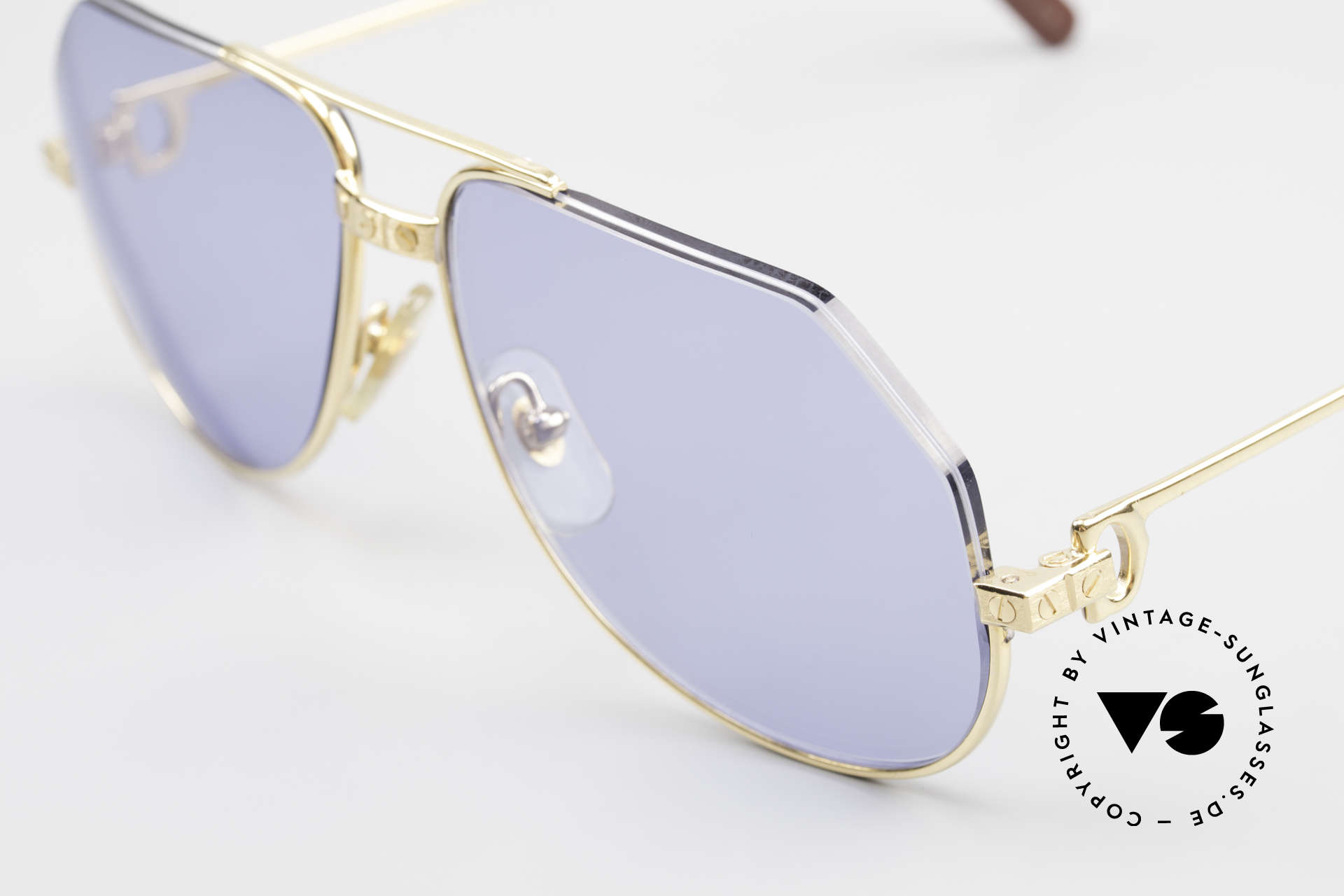 Cartier Vendome Santos - S Einzelstück Nylor Und Gold, dadurch wird die Brille leichter und sieht origineller aus, Passend für Herren