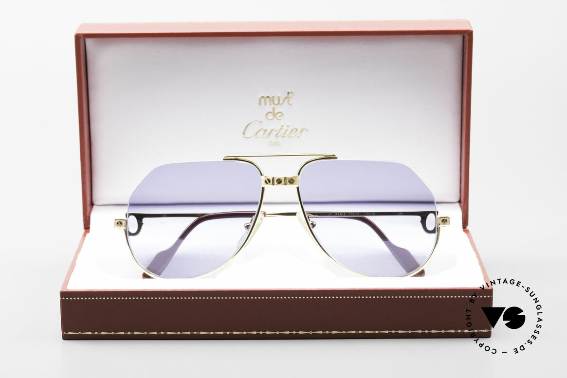 Cartier Vendome Santos - S Einzelstück Nylor Und Gold, altes Original im neuen individuellen Glanz; - Unikat pur!, Passend für Herren