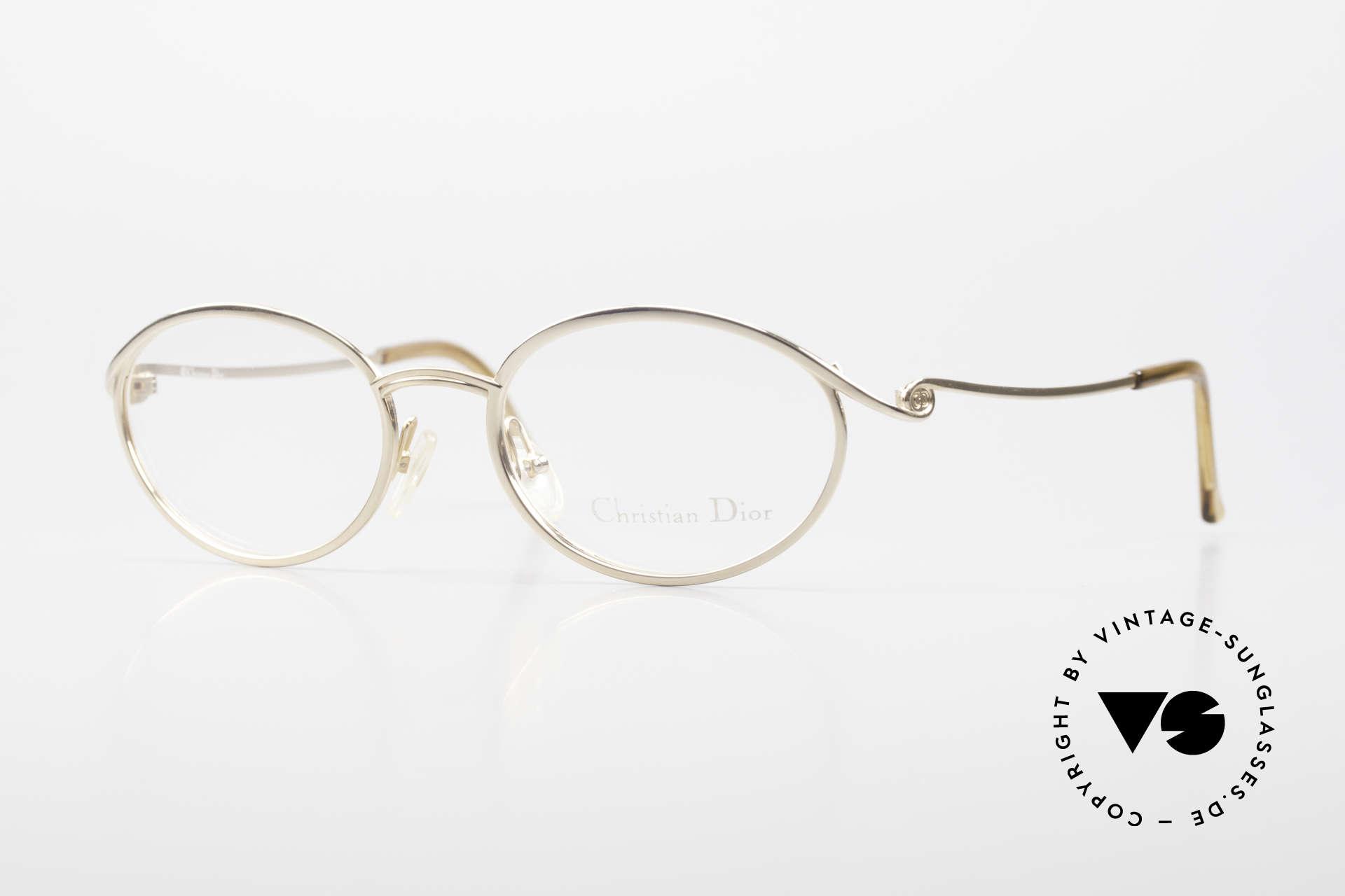 Christian Dior 2939 Damen Vintage Brille Vergoldet, sehr schöne 90er Chr. Dior vintage Brillenfassung, Passend für Damen