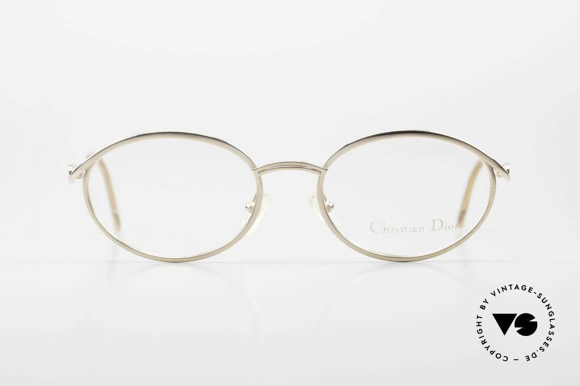 Christian Dior 2939 Damen Vintage Brille Vergoldet, feminines elegantes Design mit orig. Demogläsern, Passend für Damen