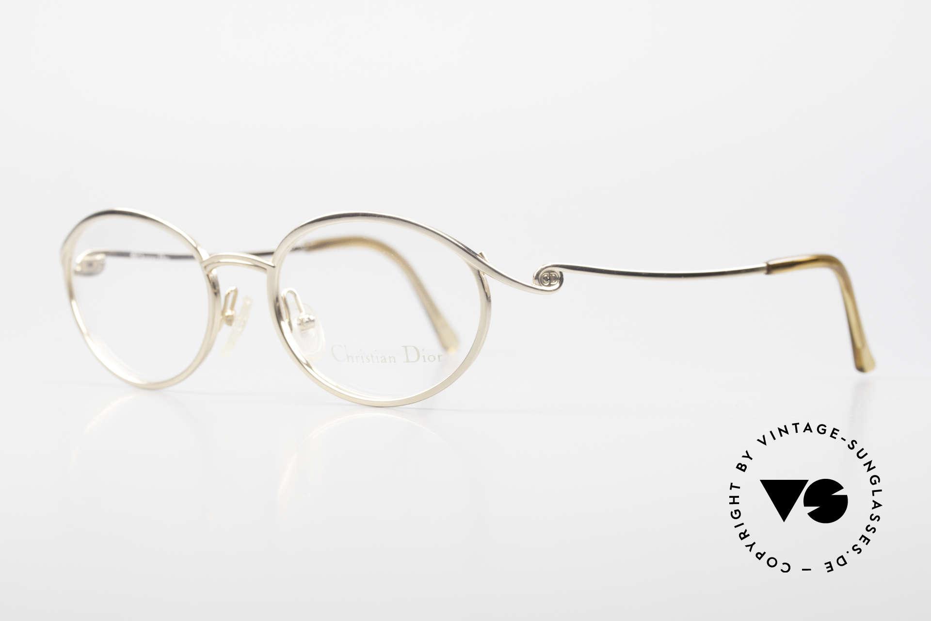 Christian Dior 2939 Damen Vintage Brille Vergoldet, vergoldeter Rahmen in herausragender Qualität, Passend für Damen