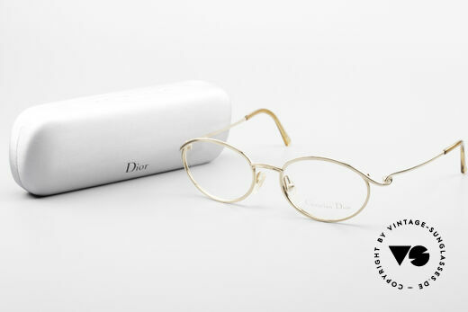 Christian Dior 2939 Damen Vintage Brille Vergoldet, die Metallfassung kann beliebig verglast werden, Passend für Damen
