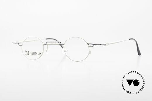 Menia 4012 Runde 90er Brille Bauhaus Stil Details