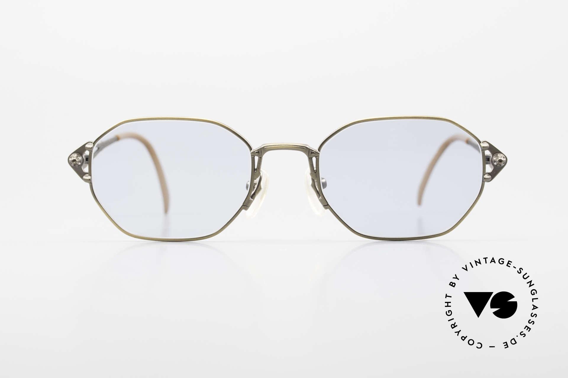 Jean Paul Gaultier 55-6106 Alte 90er Designer Sonnenbrille, robustes Gestell mit großartigen Details (Bügelansatz), Passend für Herren und Damen