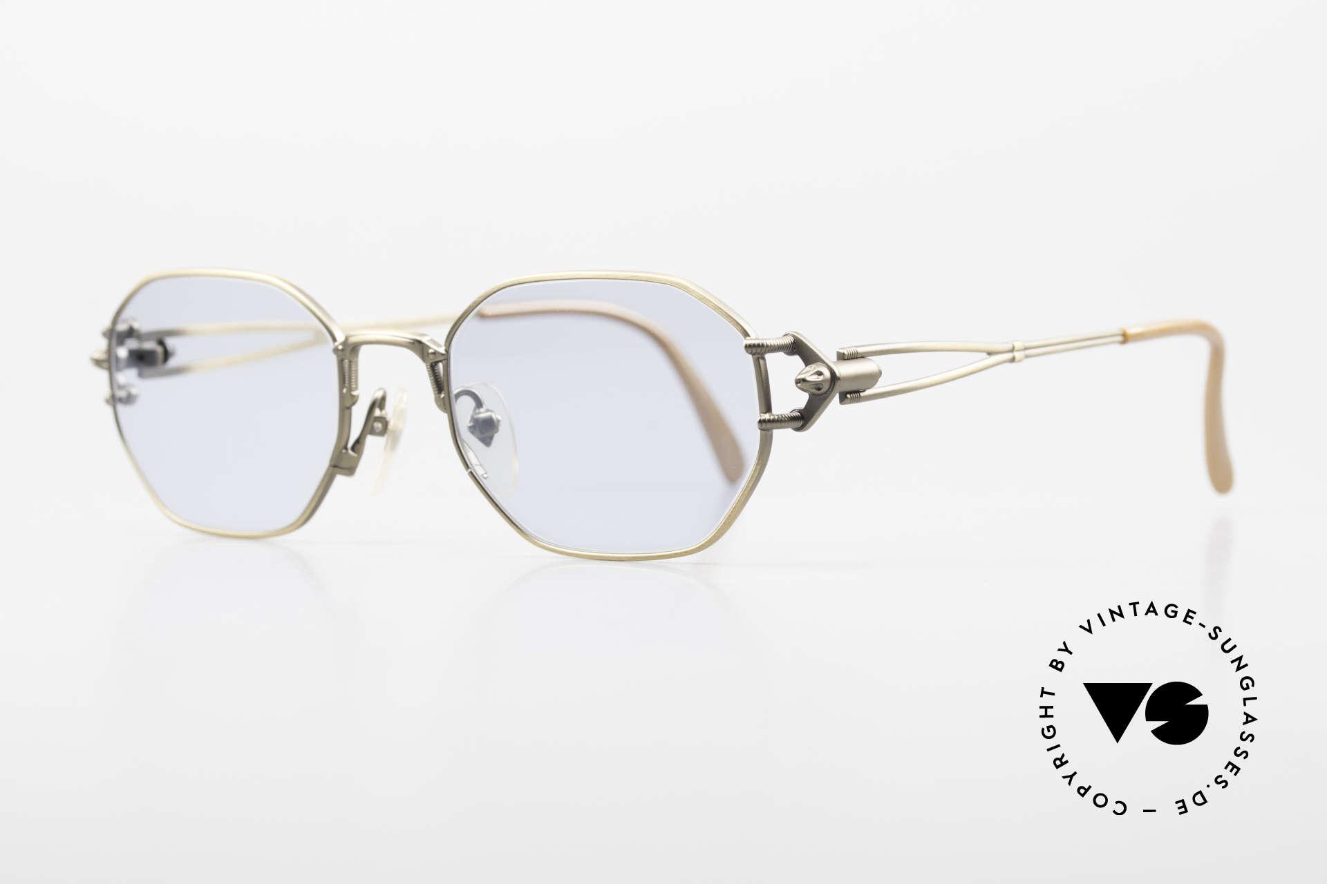 Jean Paul Gaultier 55-6106 Alte 90er Designer Sonnenbrille, technische / mechanische Komponenten (typisch J.P.G), Passend für Herren und Damen