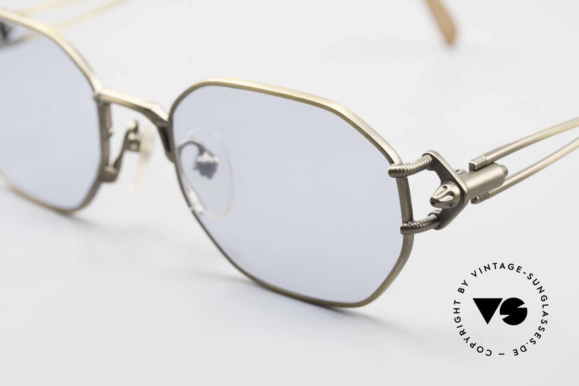 Jean Paul Gaultier 55-6106 Alte 90er Designer Sonnenbrille, neue Sonnengläser in 45% hellblau; 100% UV Protection, Passend für Herren und Damen