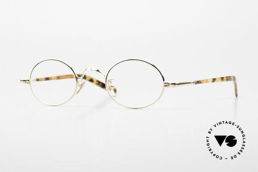 Lunor VA 100 Ovale Lunor Brille Vergoldet Details