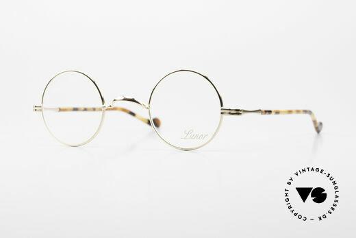 Lunor II A 12 Runde Brille 22kt Vergoldet Details