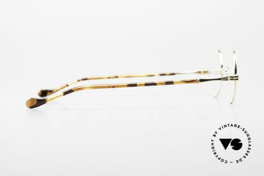 Lunor II A 12 Runde Brille 22kt Vergoldet, DEMOgläser sollten natürlich ausgetauscht werden, Passend für Herren und Damen