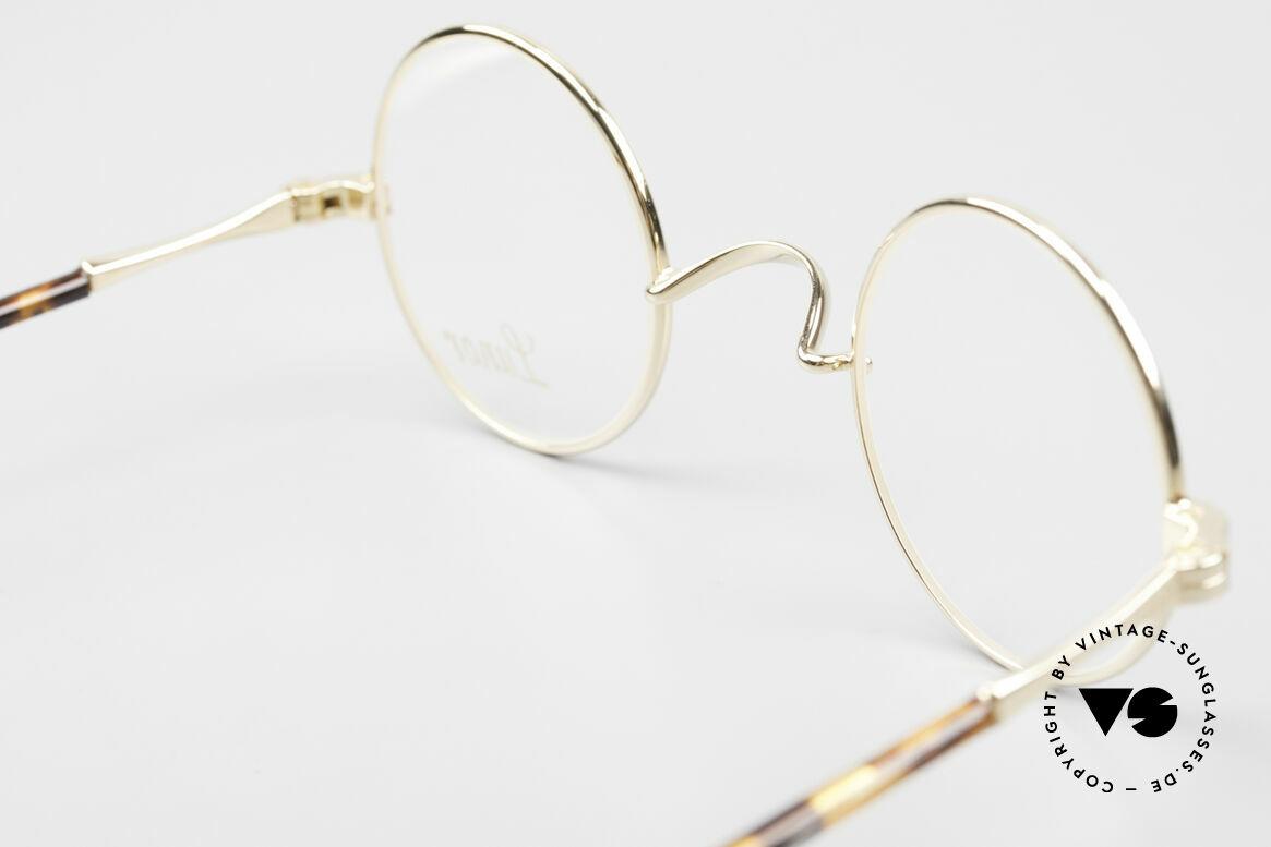 Lunor II A 12 Runde Brille 22kt Vergoldet, Größe: extra small, Passend für Herren und Damen