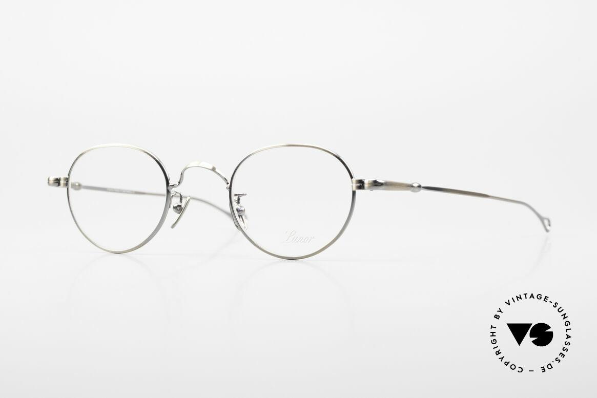 Lunor V 107 Runde Panto Brille Antik Gold, alte LUNOR Brille in Größe 43/24 und ANTIK GOLD, Passend für Herren und Damen