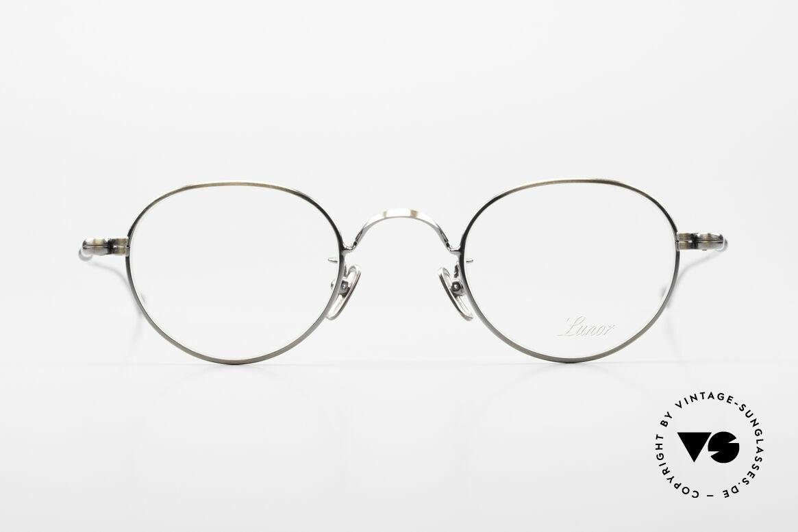 Lunor V 107 Runde Panto Brille Antik Gold, Lunor ist ehrliches Handwerk mit Liebe zum Detail, Passend für Herren und Damen