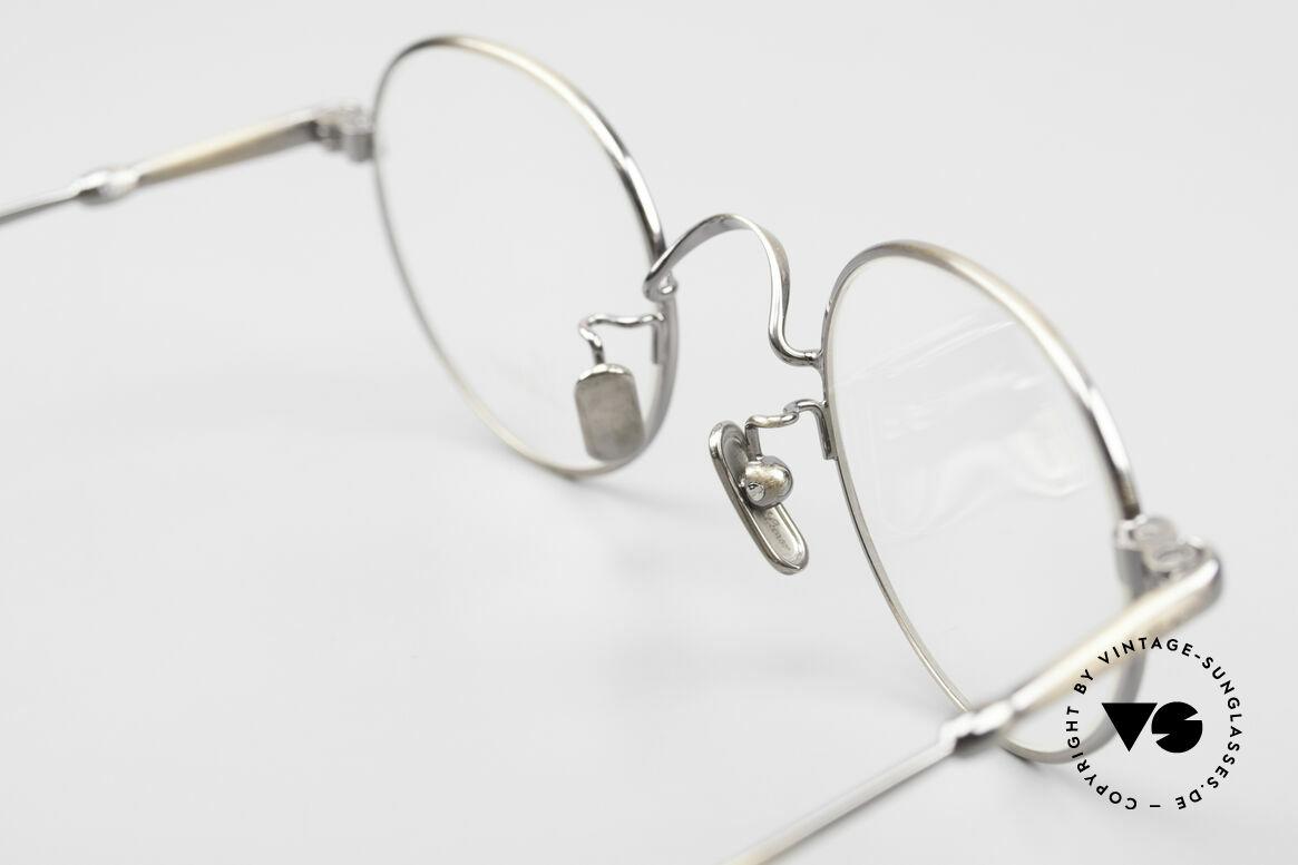 Lunor V 107 Runde Panto Brille Antik Gold, Größe: medium, Passend für Herren und Damen