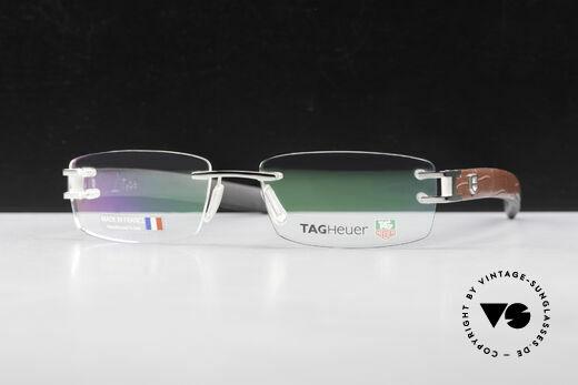 Tag Heuer L-Type 0113 Alligator-Leder Brille Randlos Details