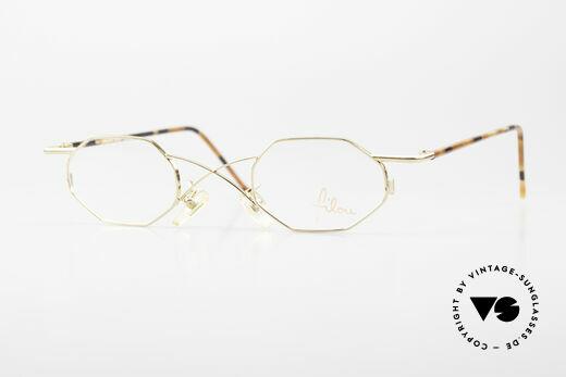 Filou 2501 Achteckige Brille mit X Brücke Details