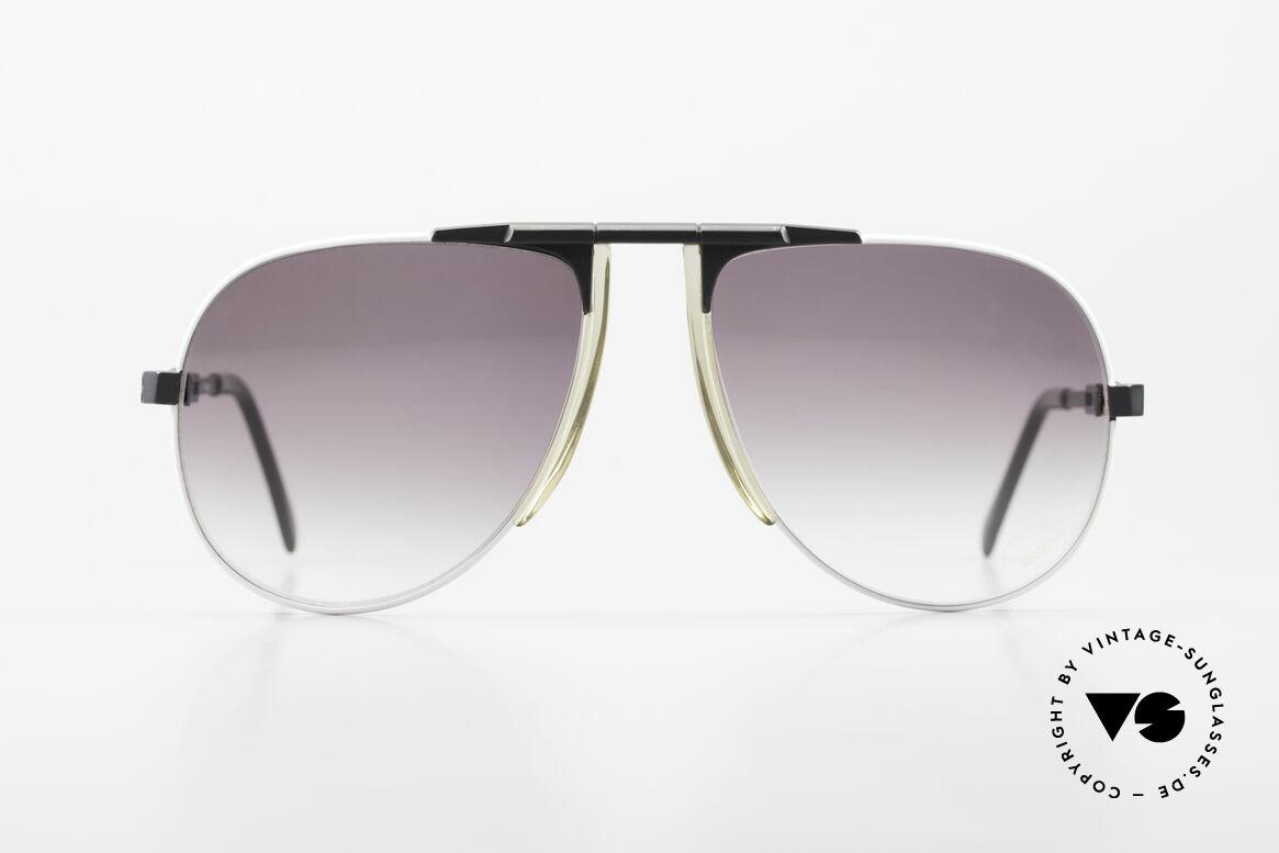 Willy Bogner 7011 80er Sport Sonnenbrille Pilot, stufenlos verstellbare Eschenbach-Bügel (1A Komfort), Passend für Herren