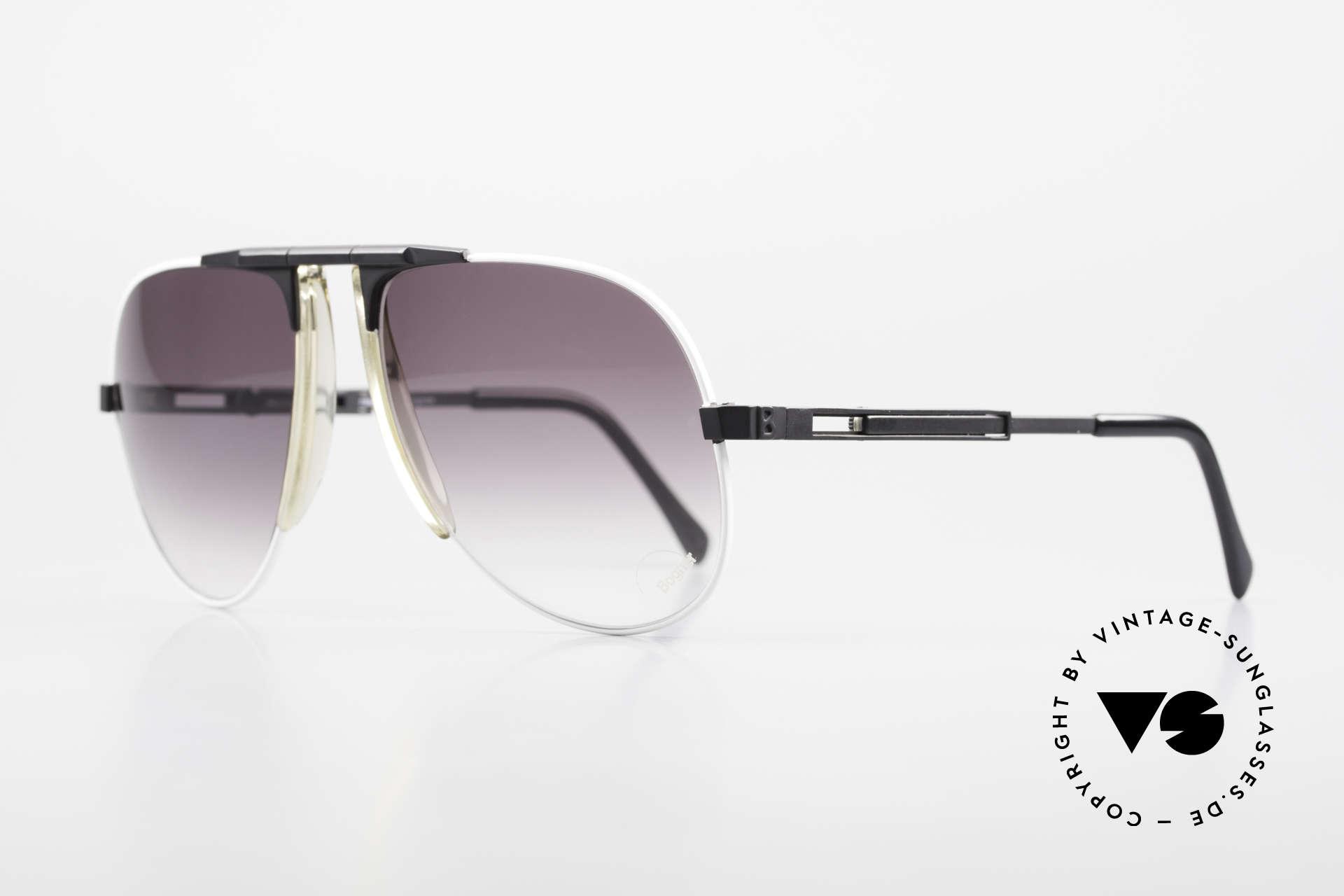"""Willy Bogner 7011 80er Sport Sonnenbrille Pilot, feinste Qualität (100% UV) von circa 1982  """"Aviator Stil"""", Passend für Herren"""
