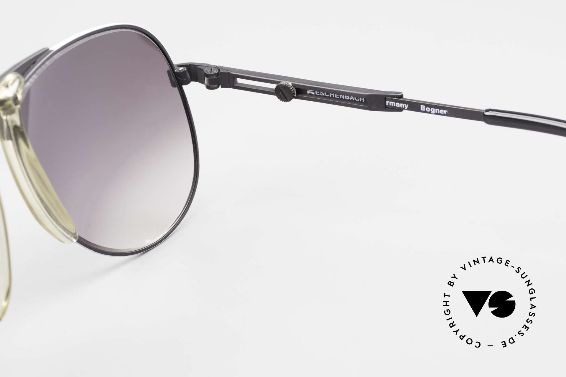 Willy Bogner 7011 80er Sport Sonnenbrille Pilot, Größe: large, Passend für Herren