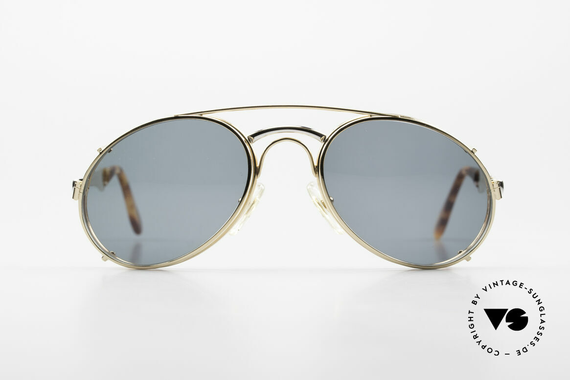 Bugatti 11948 Luxus Herrenbrille Mit Clip On, Bugatti-Klassiker mit praktischem Sonnen-Clip, Passend für Herren