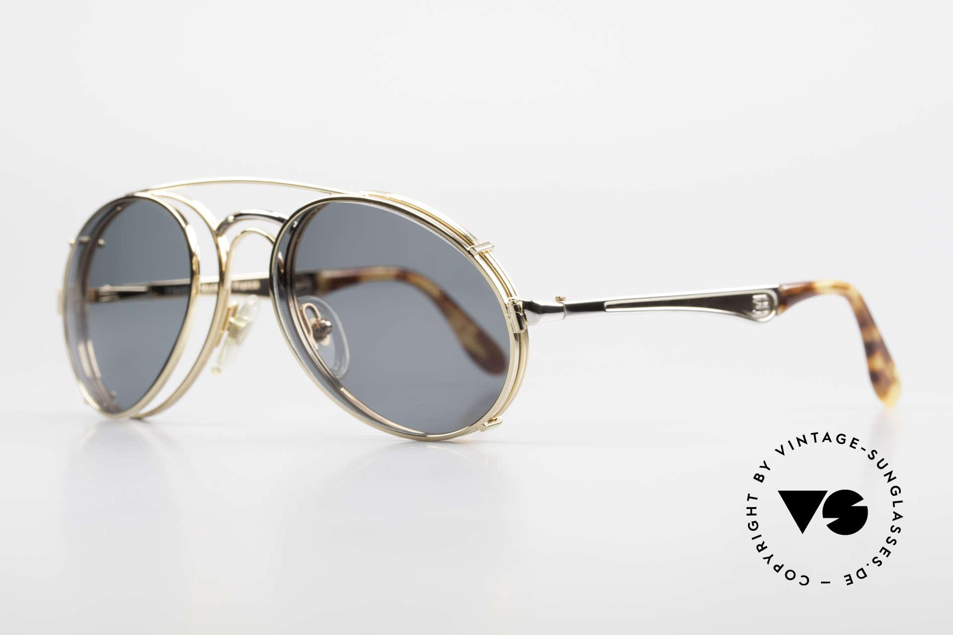 Bugatti 11948 Luxus Herrenbrille Mit Clip On, keine Tropfen- od. Aviatorform, sondern Bugatti, Passend für Herren