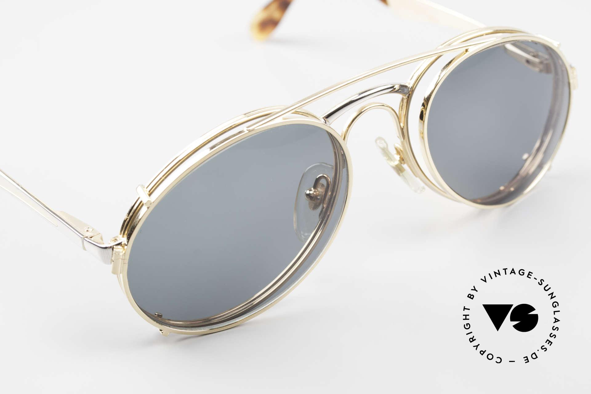 Bugatti 11948 Luxus Herrenbrille Mit Clip On, KEINE Retrobrille; sondern alte ORIGINALbrille, Passend für Herren