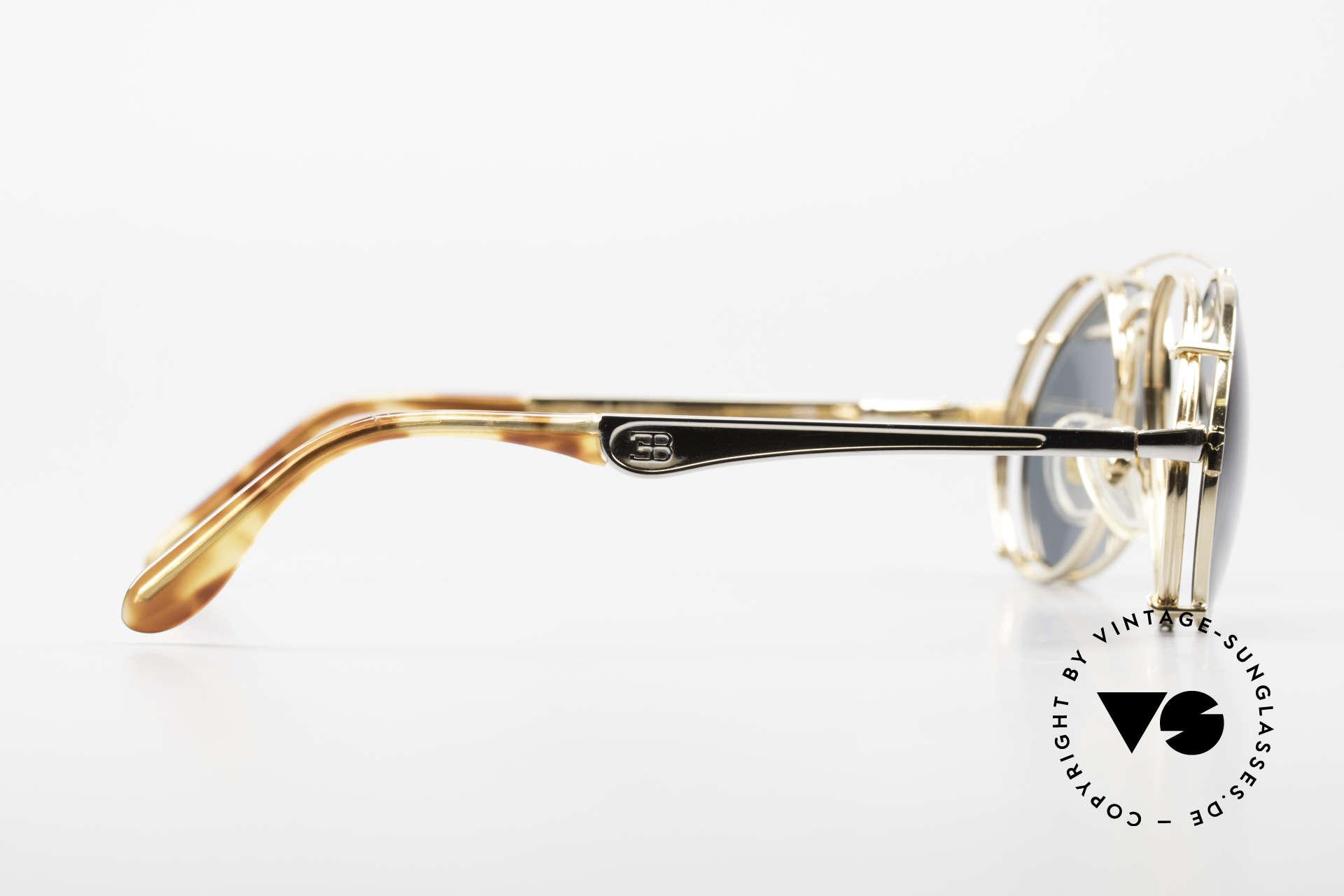 Bugatti 11948 Luxus Herrenbrille Mit Clip On, Fassung kann natürlich beliebig verglast werden, Passend für Herren