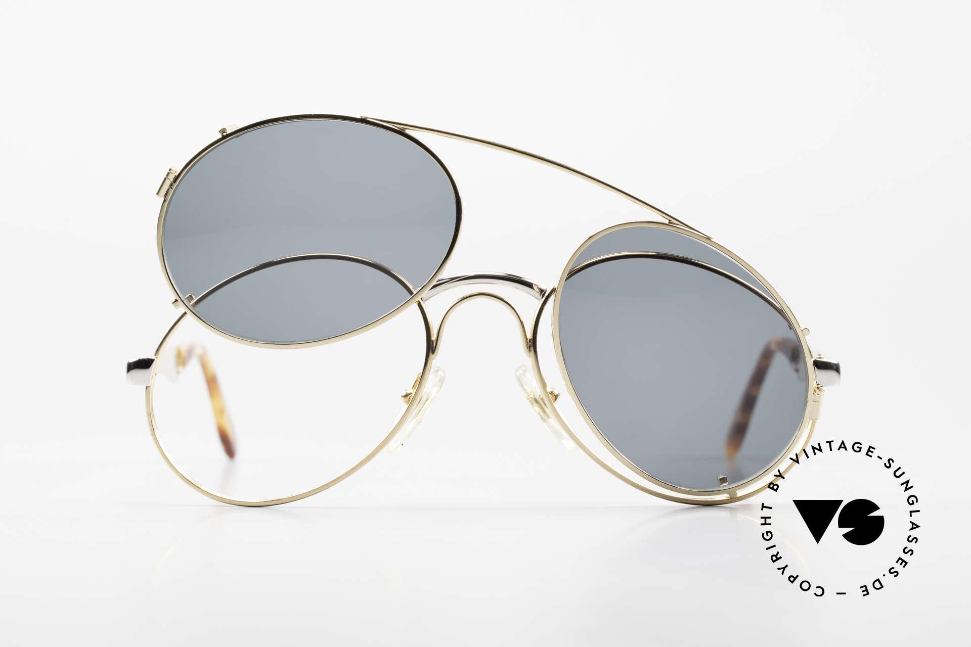 Bugatti 11948 Luxus Herrenbrille Mit Clip On, Größe: medium, Passend für Herren