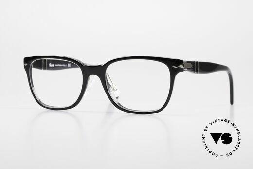 Persol 3003 Damenbrille Klassisch Schwarz Details