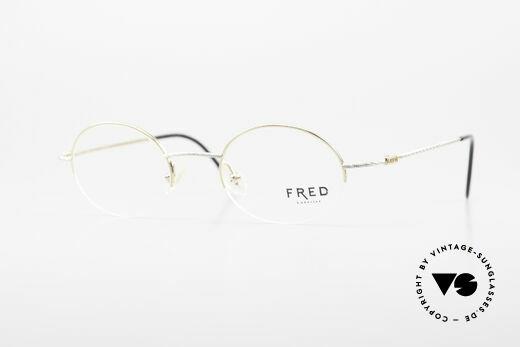 Fred F10 L02 Luxusbrille Halb Rahmenlos Details
