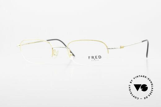 Fred F10 L03 Halb Rahmenlose Luxusbrille Details