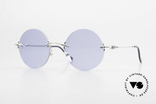 Fred Fidji Luxus Brille Rund Randlos 90er Details