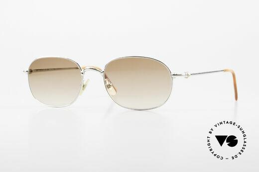 Cartier Vega 90er Luxus Platin Sonnenbrille Details